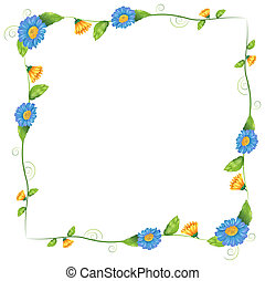 A border design made of flowering plants
