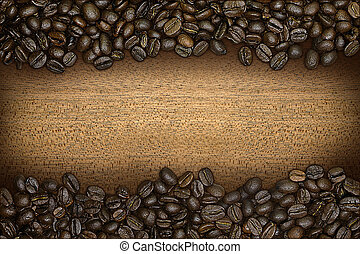 a border of coffee beans