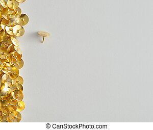 A border with thumb tacks
