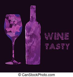 A Bottle and a Glass Full of Tasty Wine