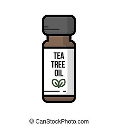 A bottle jar of tea tree oil vector