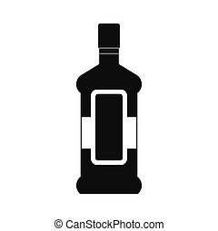 A bottle of alcohol and a glass icon