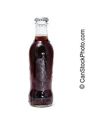 cola soda - a bottle of cola soda isolated on a white ...