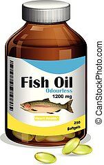 A Bottle of Fish Oil Softgels
