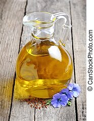 A bottle of flaxseed oil