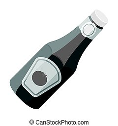 A bottle of ketchup.BBQ single icon in monochrome style vector symbol stock illustration web.