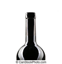 A Bottle Of Red Wine Isolated On White Background