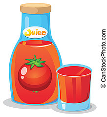 A bottle of tomato juice