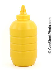 a bottle of yellow mustard