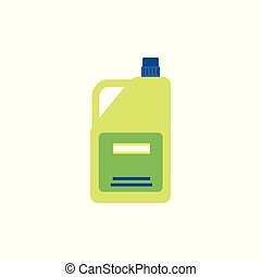 A bottle with house cleaning product icon flat vector illustration isolated.