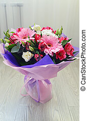 bouquet of flowers with a gerbera