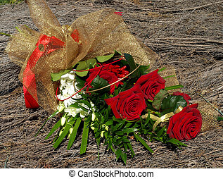 a bouquet of red roses for your love