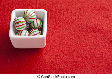 a bowl of candy