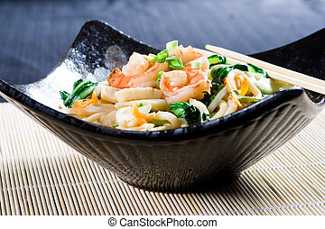 a bowl of chinese noodles - a delicious bowl of healthy...