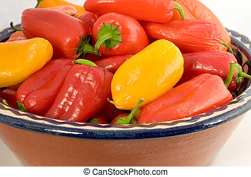 A Bowl of  Colorful Sweet Peppers