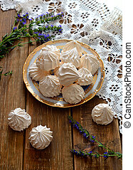 A bowl of home-made meringues