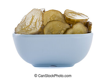 a bowl of pickles