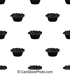 A bowl with dirty laundry. Dry cleanin single icon in black style vector symbol stock illustration web.