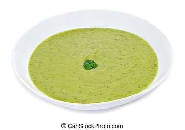 vegetables puree - a bowl with vegetables puree on a white ...