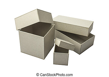A box of cardboard for the presentation of your design. Objects on white background
