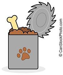 a box of dog food