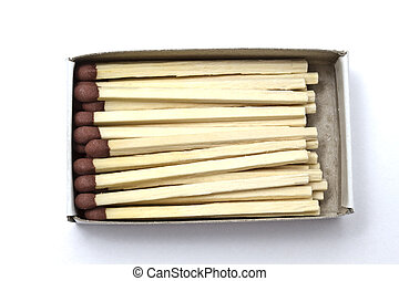 A box of matches isolated on white