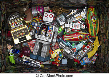 toys - a box of old toys