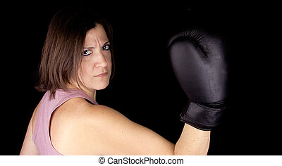 a boxing girl