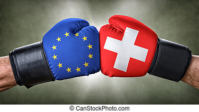A boxing match between the European Union and Switzerland