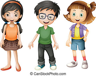A boy and girls