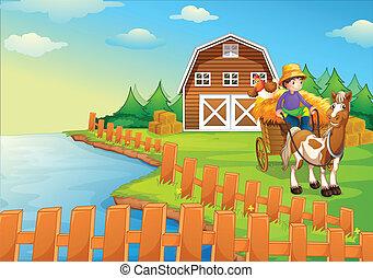 A boy at the farm