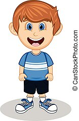 A boy cartoon