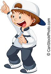 A boy character on white background