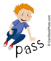 A Boy doing a pass move