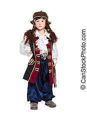 A boy dressed as pirate