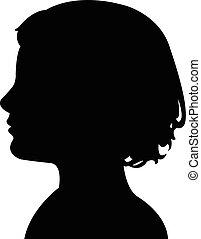 a boy head silhouette