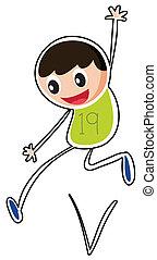 A boy jumping