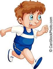 A boy running character