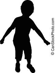a boy silhouette