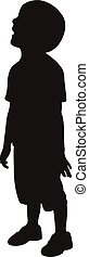 a boy silhouette vector