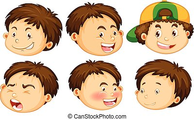 A Boy with Facial Expression
