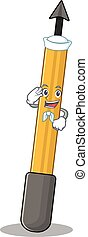 A brave sailor caricature design style of snorkeling arrow ...