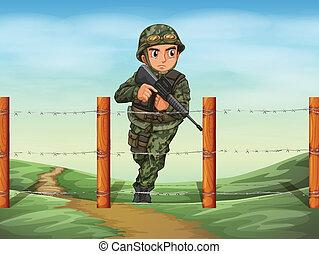 A brave soldier