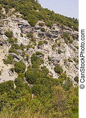 A brick mountain in Macedonia, Greece