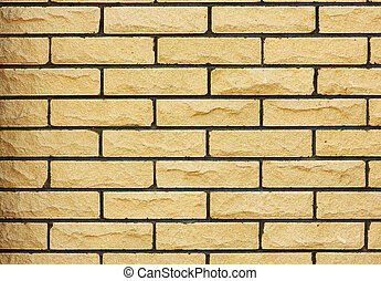 Brick wall of the fence building,