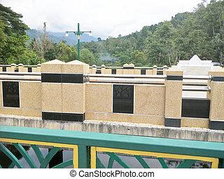 a bridge in the hill