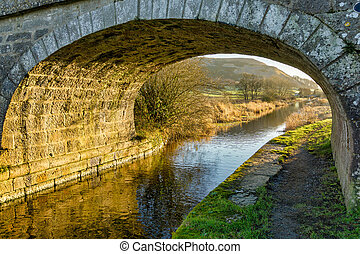 A bridge on the lancaster canal - An arched bridge on the...