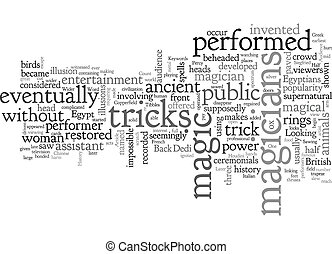 A Brief History Of Magic text background wordcloud concept