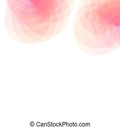 A bright abstract flowers on a white background.
