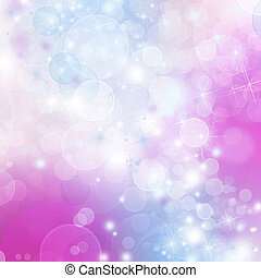A bright background with blue, purple and pink bokeh effects